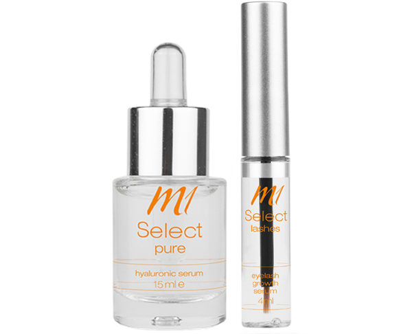M1 Select pure + lashes Pflegeset