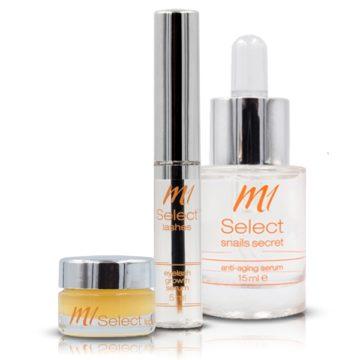das Set für regenerierte Haut, längere Wimpern und vollere Lippen