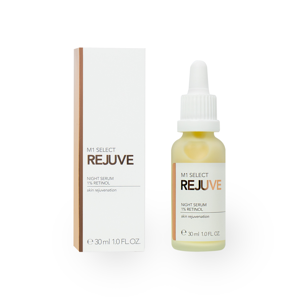 M1 SELECT REJUVE NIGHT SERUM 1% Retinol (Vitamin A)