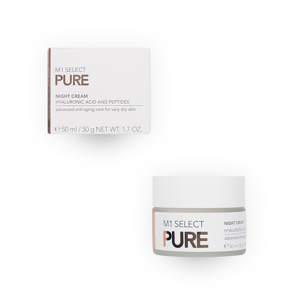 M1 SELECT PURE NIGHT CREAM + Packaging